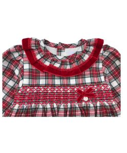 red and white check girl dress