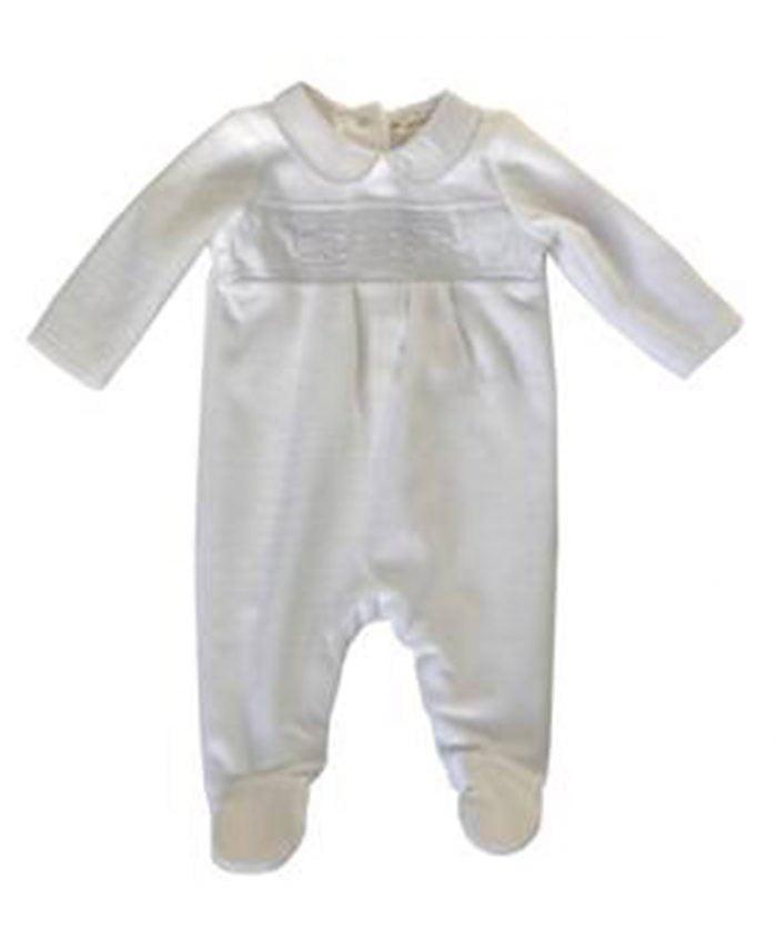velour baby sleepsuit