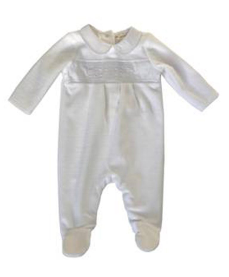 velour baby sleepsuit