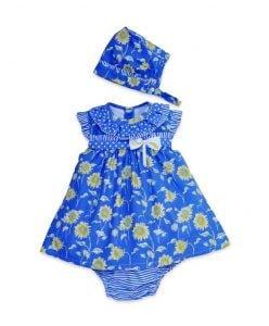 pretty floral dress for newborn girl