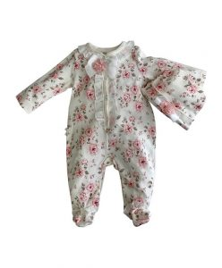 cute floral baby-grow for newborn