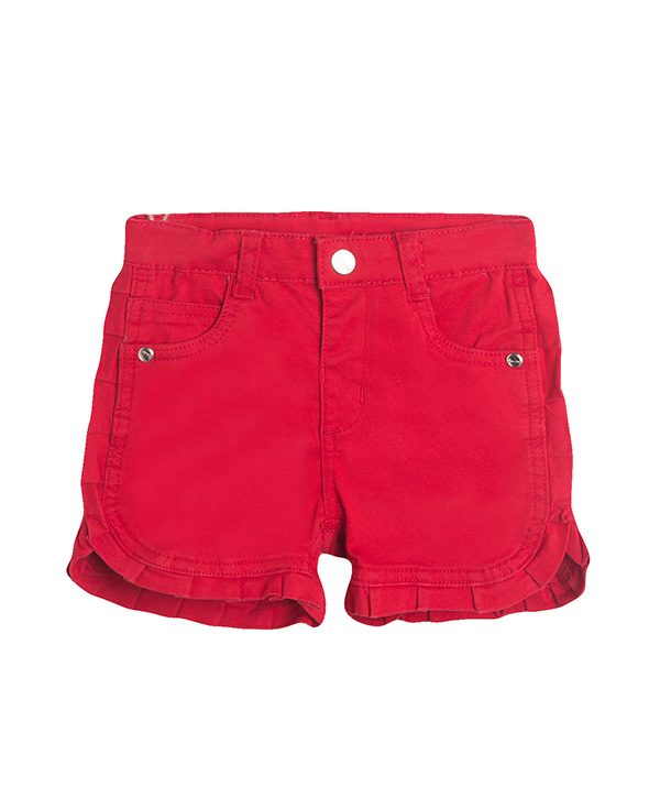 cute frilled red shorts