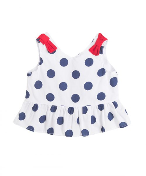 girls polka-dot top