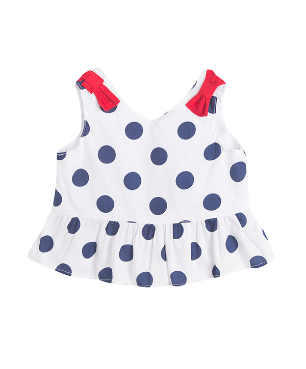 girls polka-dot top