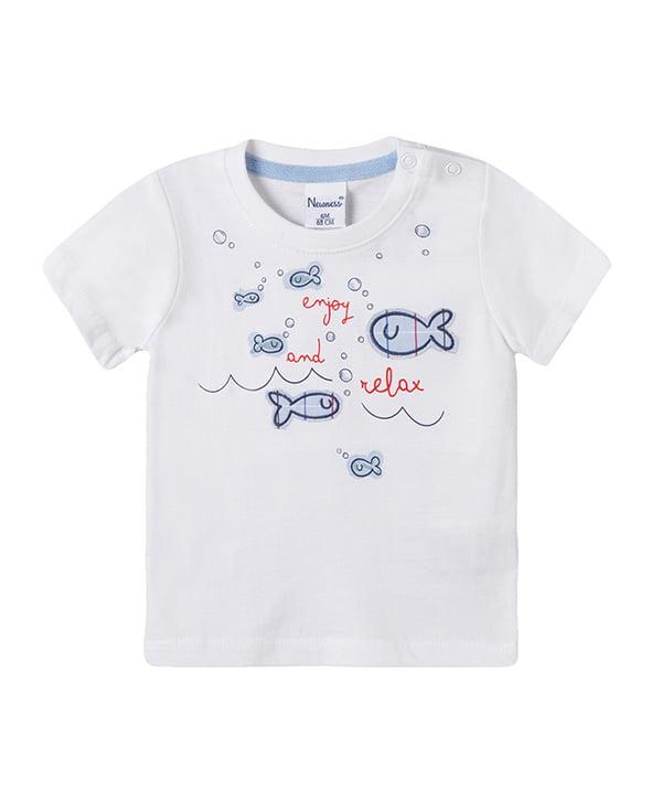 cool white printed t-shirt